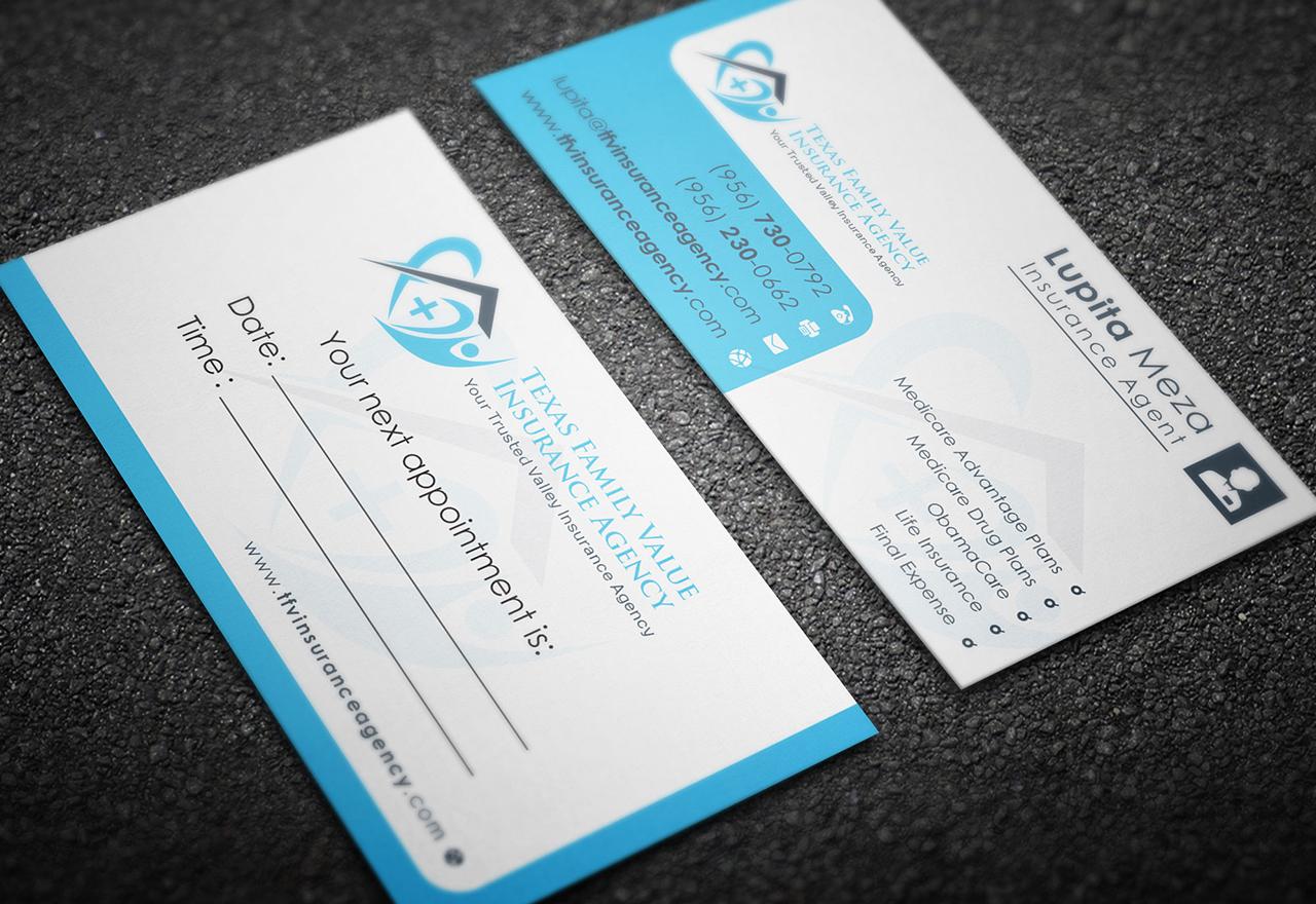 Business Card Design for Texas Family Value Insurance ...