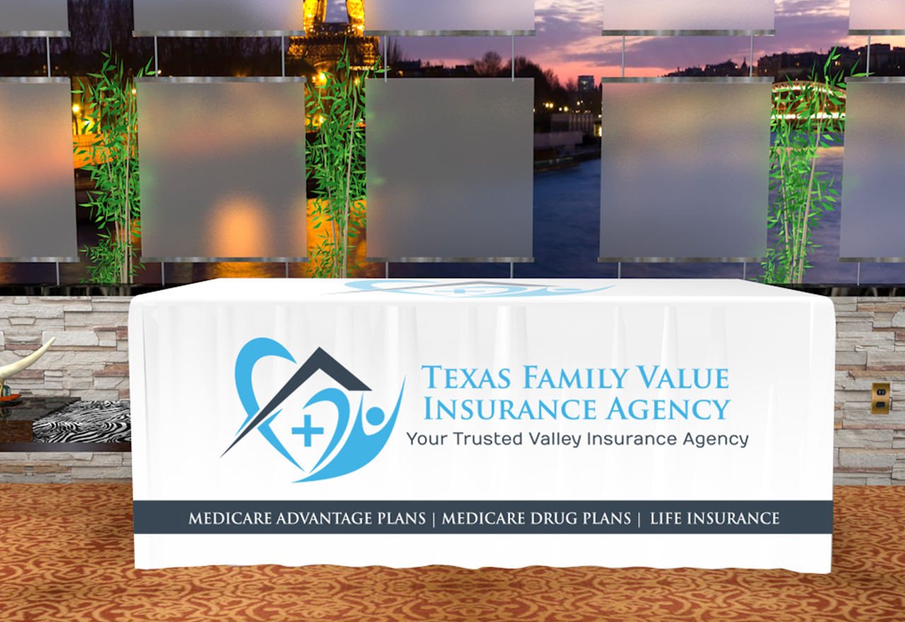 Branded Table Cover Design for Texas Family Value ...